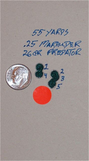 Marauder shooting Predators