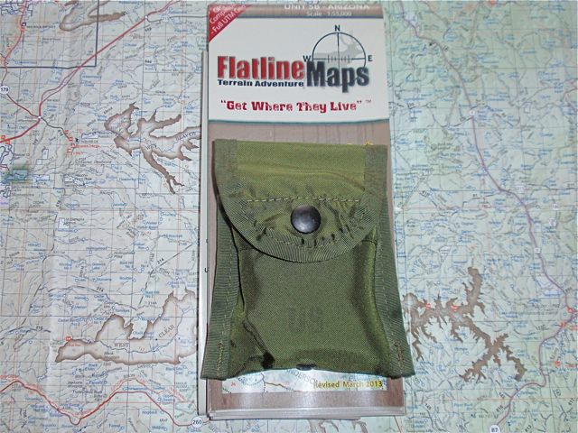 Compass in pouch