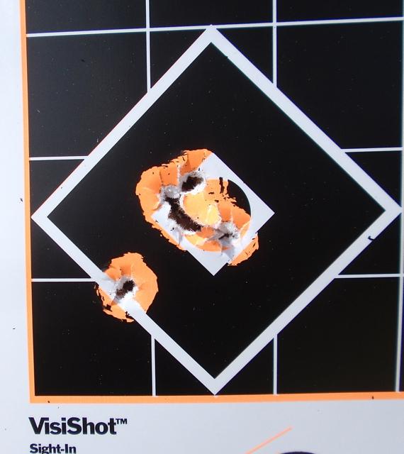 Diamond target 105 yards.