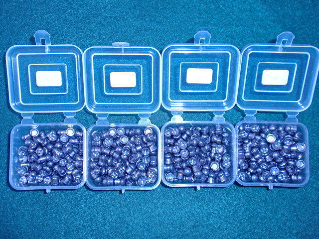 Sorted CP pellets by head size