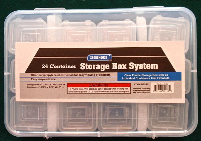Storage box w: label